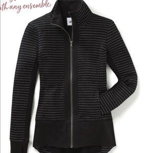 Cabi Sprint Jacket Black Chalk Stripe